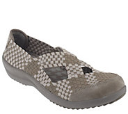As Is Skechers Relaxed Fit Memory Foam Woven Mary Jane - A263478