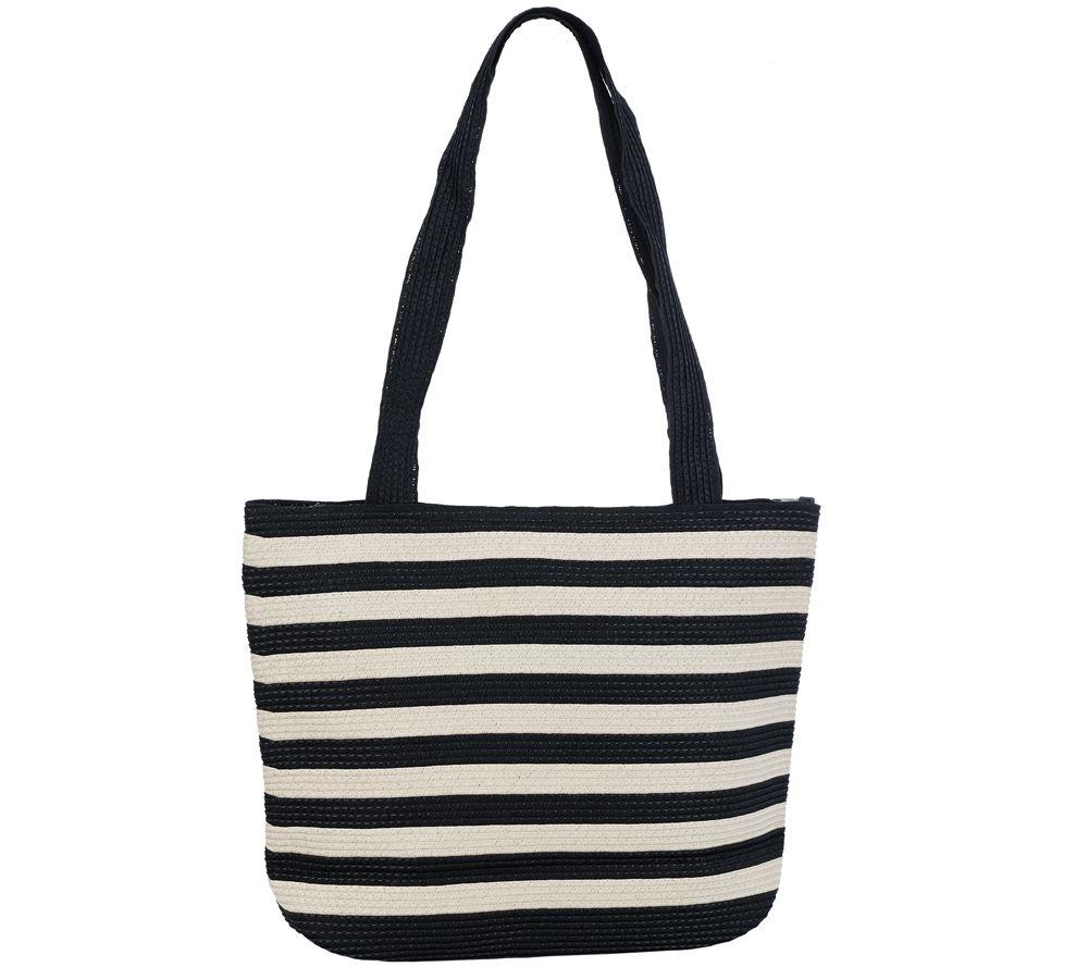 Denim & Co. Beach Bag with Zipper - Page 1 — QVC.com