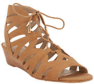 Franco Sarto Cut-out Lace-up Sandals - Upstart - A265578