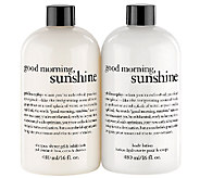 philosophy good morning sunshine 16 oz shower gel & lotion duo - A265678