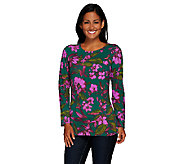 Liz Claiborne New York Long Sleeve Printed Knit Top - A268678