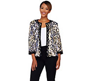 Joan Rivers Animal Print Jersey Knit Jacket with 3/4 Sleeves - A268878