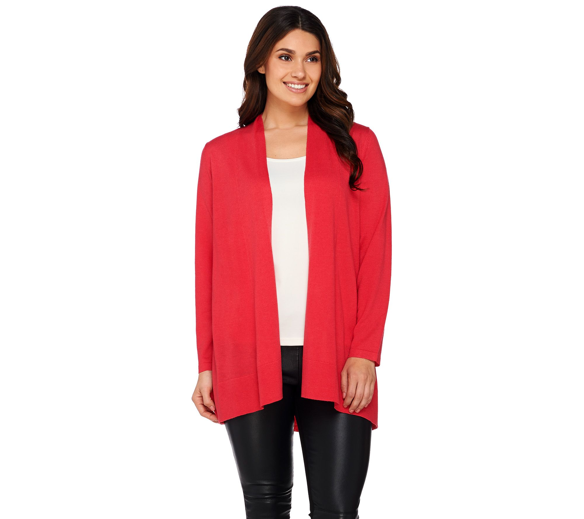 Susan Graver Open Front Long Sleeve Cardigan Sweater - Page 1 ...