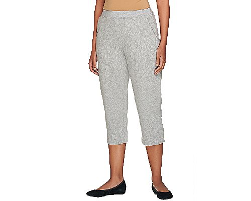 As Is Susan Graver Weekend French TerryCapri Pants