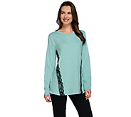 Studio By Denim & Co. Long Sleeve Top with Lace Detail - A275278