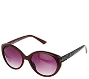 H by Halston Round Framed Sunglasses with Metallic Detail - A279978