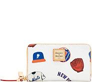 Dooney & Bourke MLB Mets Zip Around Phone Wristlet - A280878