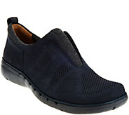 Clarks UnStructured Nubuck Leather Slip-on Shoes - Un.Spirit - A282278