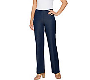 H by Halston Regular Studio Stretch Wide Leg Pull-on Pants - A289578