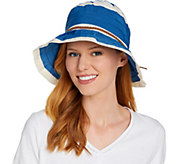 San Diego Hat Co. Ribbon Sun Hat with Pleated Brim - A290678