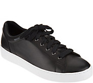 Vionic Orthotic Leather Lace-up Sneakers - Syra - A293678