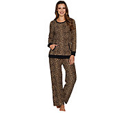 Carole Hochman Tall Waffle Fleece Novelty Pajama Set - A294078