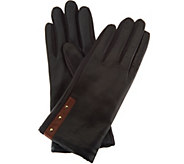 As Is Fownes Brothers Legacy Leather Gloves with Stud Detail - A295378