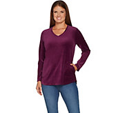 Denim & Co. Active Regular Velour Tunic with Pockets - A299378