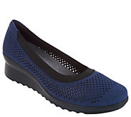 CLOUDSTEPPERS by Clarks Perforated Wedge Pumps - Caddell Trail - A302978