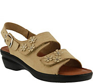 Flexus by Spring Step Leather Floral Sandals -Ceri - A356978