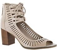 Bella Vita Leather Block Heel Sandals - Keaton - A357778