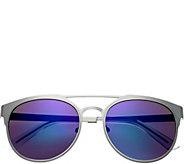 Breed Mensa Silvertone Titanium Sunglasses w/ Polarized Lenses - A361278
