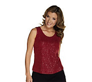 Joan Rivers Sequin Embellished Tank - A216579