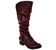 BareTraps Tall Shaft Boots w/Ruching & Gore Detail - Sheridan - A226979