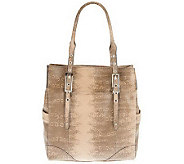 B. Makowsky Leather North/South Tote with Adjust. Straps - A228879