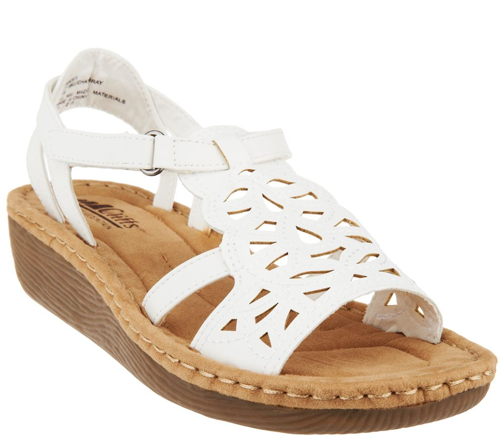 cliffs by white mountain perforated sandals chambray