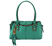 As Is Tignanello Pebble Leather Zip Top Satchel - A257579