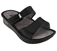 As Is Alegria Karmen Leather Double Strap Slide Sandals - A258679