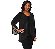 Bob Mackies Glittered Open Front Cardigan - A260179