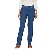Denim & Co. How Modern Straight Leg 5-Pocket Jeans - A261379