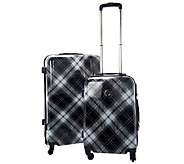 Isaac Mizrahi Live! 2-Piece Hardside Plaid Luggage Set - A262779