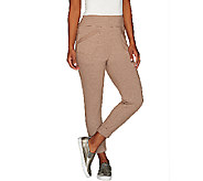 LOGO Lounge by Lori Goldstein Regular Crop Pants with Banded Hem - A263279