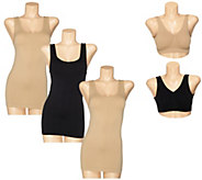 Genie Bra Seamless 5-Piece Smoothing Tank & Bra Set - A264479