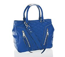 As Is Aimee Kestenberg Quilted Leather Shopper W...