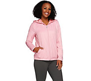 Denim & Co. Active Zip Front Jacket with Fleece Lining - A273079