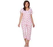 Carole Hochman Ultra Jersey Sweet Carnation 2 Piece Pajama Set - A273579