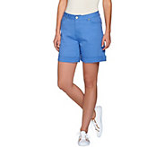 Isaac Mizrahi Live! TRUE DENIM 6 Inseam Colored Denim Shorts - A274479