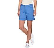 Isaac Mizrahi Live! TRUE DENIM 6 Inseam Colored Denim Shorts - A274479
