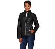 As Is Isaac Mizrahi Live! SOHO Cable Quilted Nylon Jacket - A277379