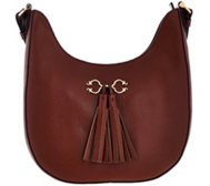 C. Wonder Pebble Leather Hobo Bag w/ Hardware & Tassel Detail
