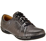 As Is Clarks Un.Structured Leather Lace-up Shoes - Un.Honey - A279279