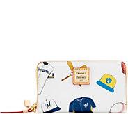 Dooney & Bourke MLB Brewers Zip Around Phone Wristlet - A280879