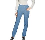 Isaac Mizrahi Live! Petite 24/7 Denim Straight Leg Jeans - A285179