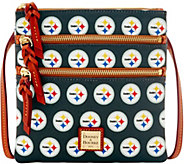 Dooney & Bourke NFL Steelers Triple Zip Crossbody - A285679