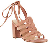 Marc Fisher Suede Ankle Wrap Sandals - Pheobe - A287479