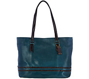As Is Tignanello Vintage Leather RFID Shopper w/ Braided Detail - A289079