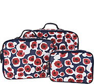 Hudson Bleecker Savannah Poppy Set of Three Packing Cubes - A294779
