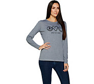Peace Love World Signature Long Sleeve Knit Top - A294979