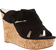 Marc Fisher Suede Bow Wedges - Hobby - A303379