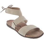 Naot Leather Tie Back Sandals - Larissa - A303479
